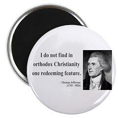 "Thomas Jefferson 4 2.25"" Magnet (100 pack)"