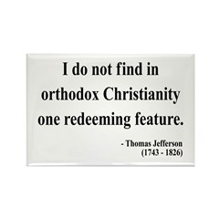 Thomas Jefferson 4 Rectangle Magnet (100 pack)
