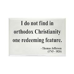 Thomas Jefferson 4 Rectangle Magnet (10 pack)