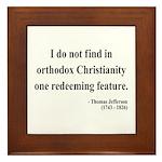 Thomas Jefferson 4 Framed Tile
