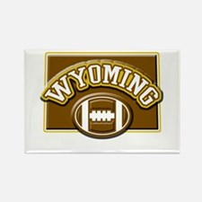 Wyoming Football Rectangle Magnet