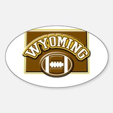 Wyoming Football Oval Decal