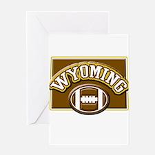 Wyoming Football Greeting Card