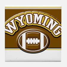 Wyoming Football Tile Coaster
