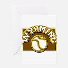 Wyoming Baseball Greeting Card