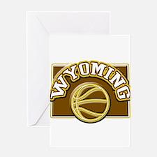 Wyoming Basketball Greeting Card