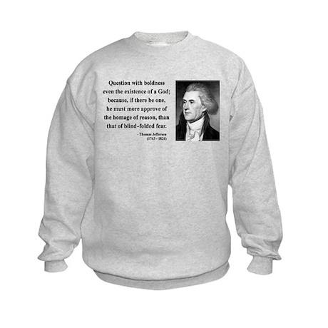 Thomas Jefferson 5 Kids Sweatshirt