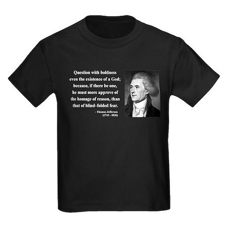 Thomas Jefferson 5 Kids Dark T-Shirt