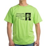 Thomas Jefferson 9 Green T-Shirt