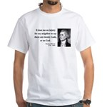 Thomas Jefferson 9 White T-Shirt
