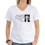 Thomas Jefferson 9 Women's V-Neck T-Shirt