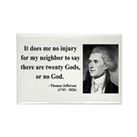 Thomas Jefferson 9 Rectangle Magnet (100 pack)
