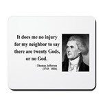 Thomas Jefferson 9 Mousepad