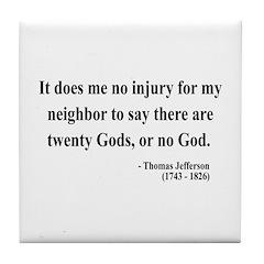 Thomas Jefferson 9 Tile Coaster