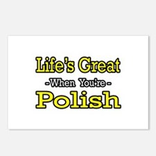 """""""Life's Great..Polish"""" Postcards (Package of 8)"""