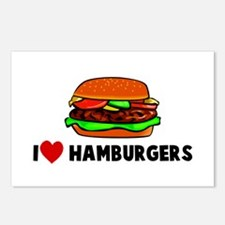 I heart hamburgers Postcards (Package of 8)