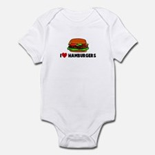 I heart hamburgers Infant Bodysuit