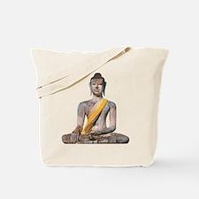 Meditating Stone Buddha Tote Bag