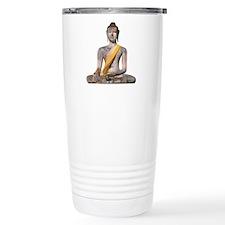 Meditating Stone Buddha Travel Mug