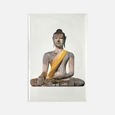Meditating Stone Buddha Rectangle Magnet