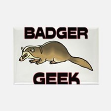Badger Geek Rectangle Magnet