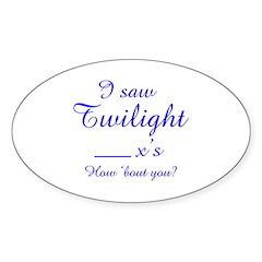 Twilight again Oval Decal