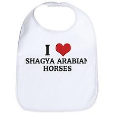 I Love Shagya Arabian Horses Bib