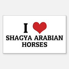 I Love Shagya Arabian Horses Rectangle Decal