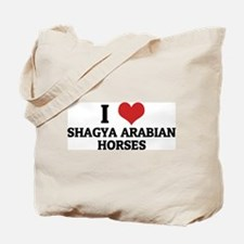 I Love Shagya Arabian Horses Tote Bag