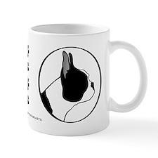 Boston Terrier Head B&W Small Mug