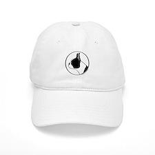 Boston Terrier Head B&W Baseball Cap