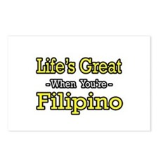 """Life's Great...Filipino"" Postcards (Package of 8)"