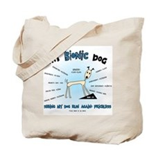 Bionic Dog Tote Bag