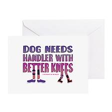 Better Knees (Purple) Greeting Card
