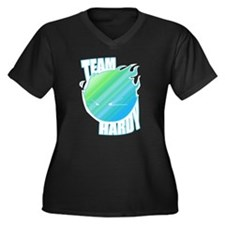 TEAM HARDY V2 Women's Plus Size V-Neck Dark T-Shir