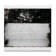 Stone FDR Memorial Tile Coaster