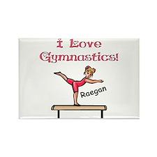 -I Love Gymnastics (Raegan) Rectangle Magnet