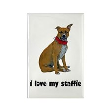 I Love My Staffie Rectangle Magnet