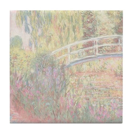 MONET Water Lily Pond: Water Irises Tile Coaster