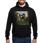 Painted Horse and Foal Hoodie (dark)