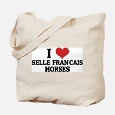 I Love Selle Francais Horses Tote Bag