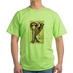 Valentine Cherub Green T-Shirt