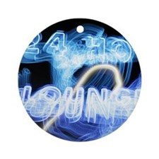 24 Hour Lounge Neon Ornament (Round)