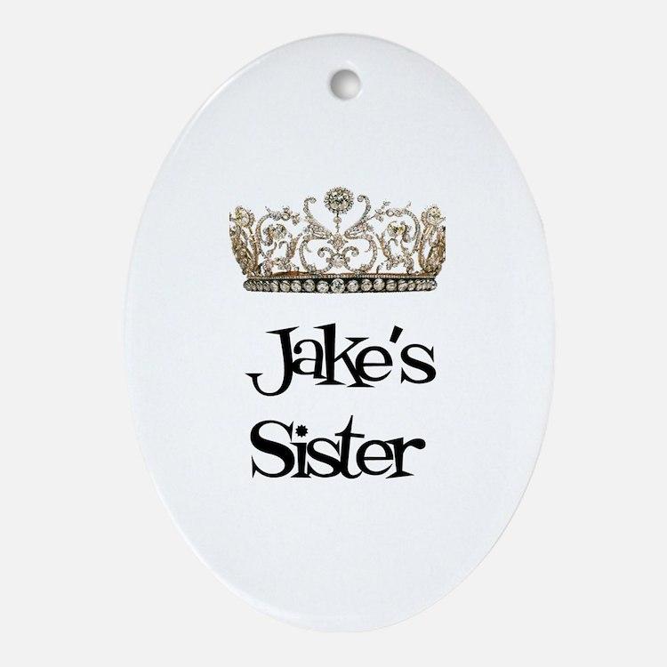 Jake's Sister Oval Ornament