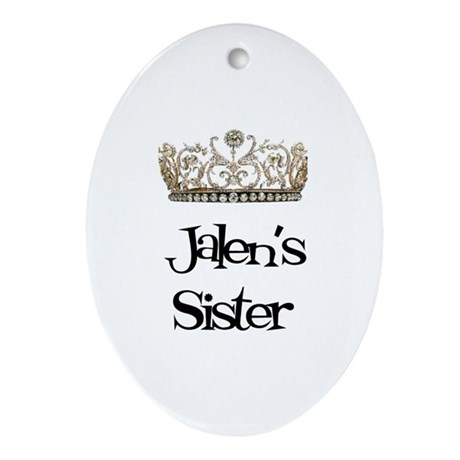 Jalen's Sister Oval Ornament