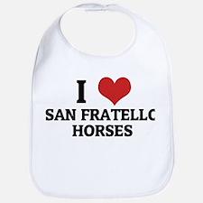 I Love San Fratello Horses Bib