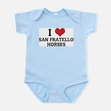 I Love San Fratello Horses Infant Creeper