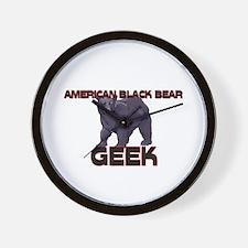 American Black Bear Geek Wall Clock