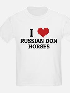 I Love Russian Don Horses Kids T-Shirt