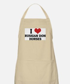 I Love Russian Don Horses BBQ Apron